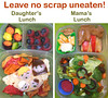 What's in our lunch boxes: Mama's Scrap Heap Lunch. Her lunch is recycled/re-used! All the spinach, carrot, fruit leather, and cheese scraps from her daughter's lunch went into her lunch: http://bit.ly/14AYlVl