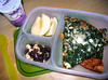 In their lunch box: Spinach and feta pizza is one of my girls' favorite meals when I pack it to go the nights that they have back to back dance classes after school. All that twirling and tap dancing makes them work up quite an appetite!