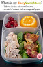 "Leftovers always make packing lunch boxes so much easier. This one's got leftover chicken and roasted potatoes on a bed of spinach with an orange and grapes. From Dina of What The Girls Are Having. MORE ► <a href=""http://bit.ly/1lsxgYv"">http://bit.ly/1lsxgYv</a>"
