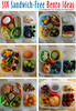 "Six Sandwich Free Bento lunch ideas. Heather of Dragonfly Designs has lots of great lunch ideas<br /> HERE ► <a href=""http://bit.ly/172opfd"">http://bit.ly/172opfd</a>"