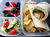 "Wraps are one of the easiest things that you can make for lunch. All it takes is a little imagination and the ""right"" ingredients. Here's a smoked salmon wrap in an Easy Lunch Box from Roxanne of The Roxx Box: http://bit.ly/10VAMGM"