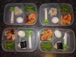 """I love that I can pack two days worth of lunches in a snap! I posted this to my home page and even had a friend order the boxes!""  We love this too!!! Thanks to Jackie for sharing this on our Facebook wall!"