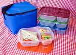 Up to 3 of our containers will fit in one of our cooler bags. Picnics are so easy with EasyLunchboxes!  Photo courtesy of  http://www.kitchencritic.co.uk