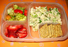 In your lunch box: Tuna salad with crunchy celery tastes great on top of Triscuit crackers. Served with a salad and strawberries.