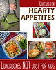 "Lunches for hearty appetites, big eaters. MORE HERE: <a href=""http://www.easylunchboxes.com/blog/adult-bento-lunch-box-ideas-for-work-for-man-or-big-kids/"" target=""_blank"">Lunches for bigger appetites</a> lunchboxes are not just for kids."