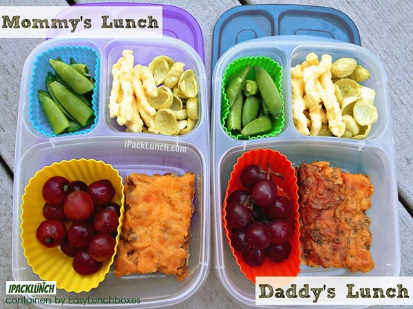 """...Parents need lunch too, right? On most days I pack our lunches side by side and they are more or less identical. This allows me to pack quickly and efficiently. Also, I only have to think of one ""idea"" and do it twice! With 2 working parents, packing lunch really saves us a lot of money....""<br /> MORE from IPackLunch ► <a href=""http://bit.ly/17TP0pX"">http://bit.ly/17TP0pX</a>"